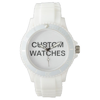 Custom Personalized Pink Silicon Watch Blank