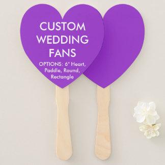 Custom Personalized PURPLE HEART WEDDING FANS