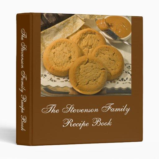 Custom Personalized Recipe Book 3 Ring Binders