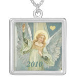 Custom Personalized Religious Angel  Necklace