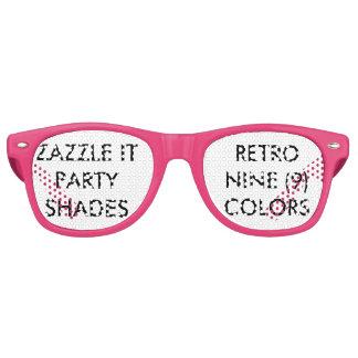 Custom Personalized Retro Party Shades Blank