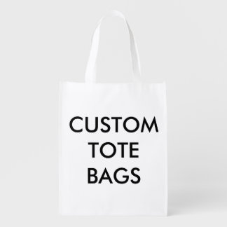 Custom Personalized Reusable Bag Blank Template Grocery Bags