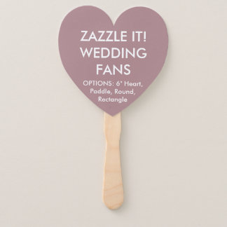 Custom Personalized ROSE PINK HEART WEDDING FANS