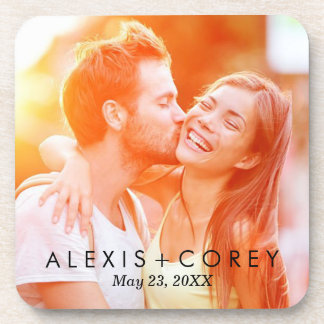 Custom Personalized Save the Date Photo Gift Beverage Coaster