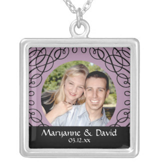 Custom Personalized Save the date Swirl Necklace