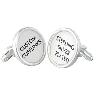 Custom Personalized Silver Plated Cufflinks Blank