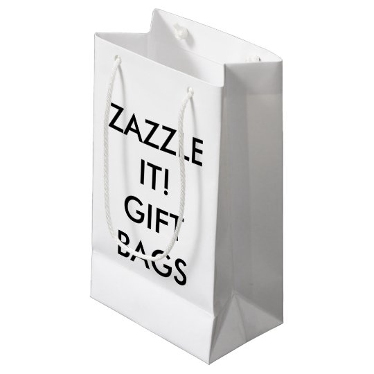 Custom Personalized Small Gift Bag Blank Template