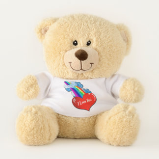 Custom Personalized Snuggle Teddy Bear Add Text