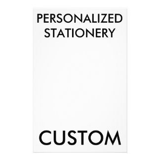 Custom Personalized Stationery Blank Template