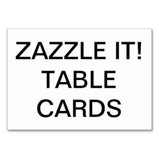 Custom Personalized Table Card Blank Template