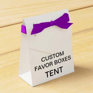 Custom Personalized Tent Favor Boxes Blank -Purple