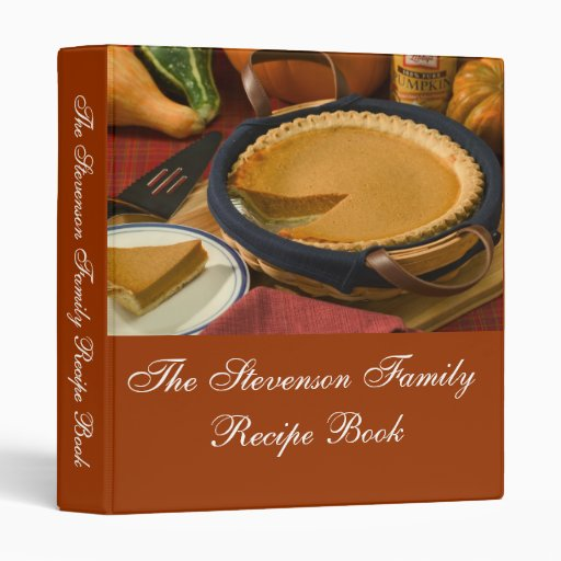 Custom Personalized Thanksgiving Recipe Book 3 Ring Binders