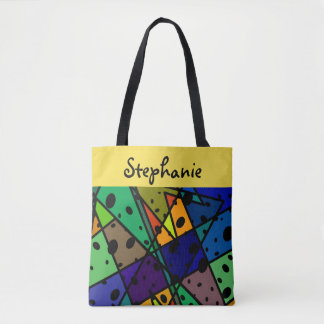 custom personalized tote abstract art design