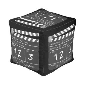 Custom Personalized Unique Movie Clapperboard Pouf