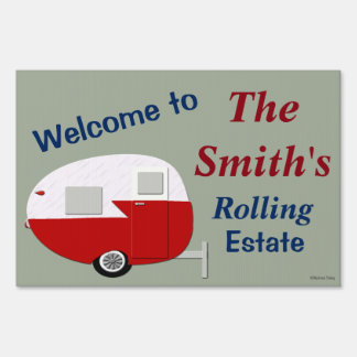 Custom Personalized Welcome To RV Campsite Sign