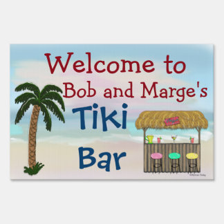 Custom Personalized Welcome To Tiki Bar Sign