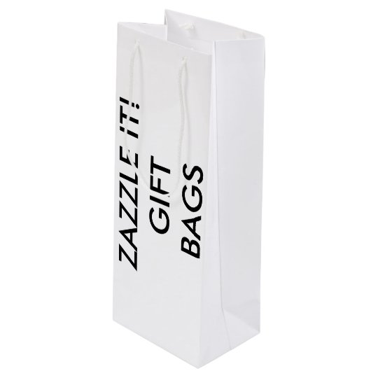 Custom Personalized Wine Gift Bag Blank Template