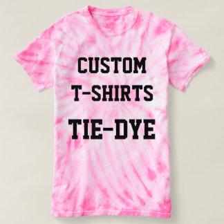 Custom Personalized Women's PINK TIE-DYE T-SHIRT