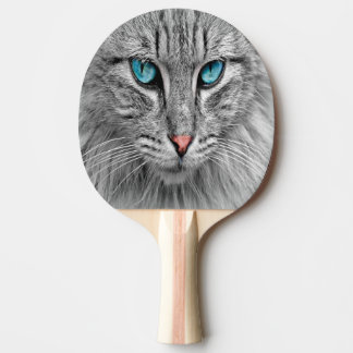 Custom pet cat photo ping pong paddle