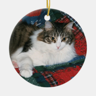 Custom Pet Memorial Photo Christmas Ornament