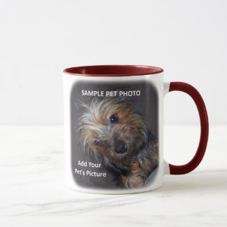 CUSTOM Pet Photo Add YOUR Picture Mug