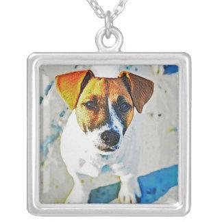 Custom Pet Photo Square Necklace
