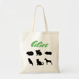 Custom Pet Silhouettes Easter Rabbit bag