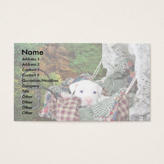 Custom Pet Sitting Service Business Card