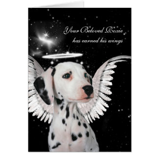 Custom Pet Sympathy Loss of a Dog Dalmatian Angel Greeting Card
