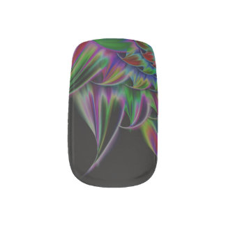 Custom Phantom Flame Airbrush Art Fingernail Decal