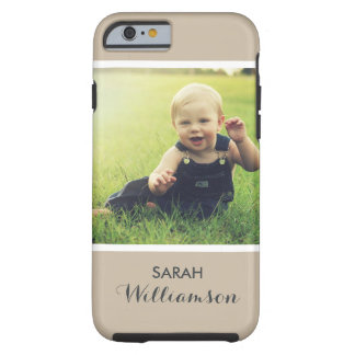 Custom Phone with Family Kids Baby Personal Photo Tough iPhone 6 Case