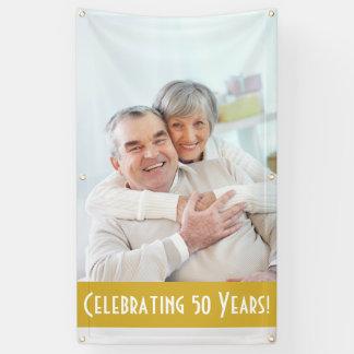 Custom Photo 50th Anniversary Banner