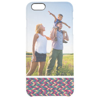 Custom Photo Abstract Colorful Industrial Clear iPhone 6 Plus Case