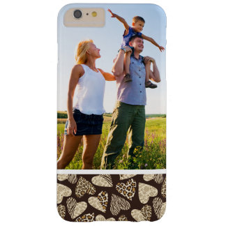 Custom Photo Animal skin with hearts Barely There iPhone 6 Plus Case