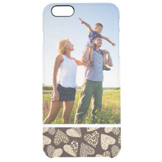 Custom Photo Animal skin with hearts Clear iPhone 6 Plus Case