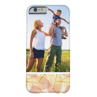 Custom Photo Autumn Leaves Barely There iPhone 6 Case