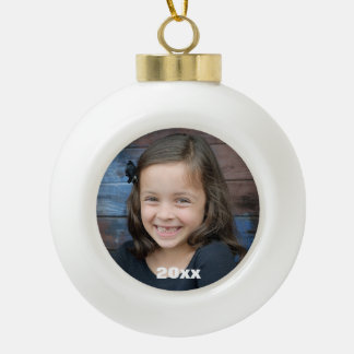 Custom photo ball ornament