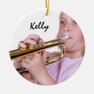 Custom Photo Band Christmas Ornament