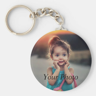Custom Photo Basic Round Button Keychain