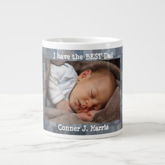 Custom Photo, Best Dad, Personalized Large Coffee Mug