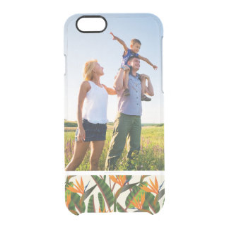 Custom Photo Bird Of Paradise Flower Pattern Clear iPhone 6/6S Case