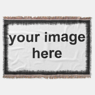 Custom Photo Black Border Throw Blanket