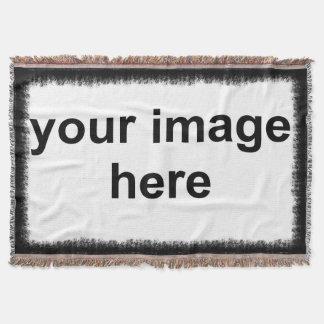 Custom Photo Black Border Throw Blanket