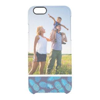 Custom Photo Blue Tie Dye Pineapples Clear iPhone 6/6S Case