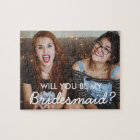 Custom Photo Bridesmaid Proposal Puzzle Gift