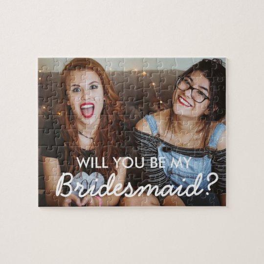 Custom Photo Bridesmaid Proposal Puzzle Gift