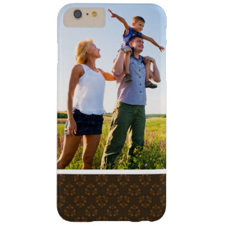 Custom Photo Brown abstract pattern Barely There iPhone 6 Plus Case