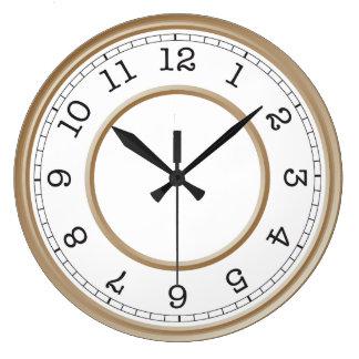 Custom Photo Brown Modern Minimalist Large Clock