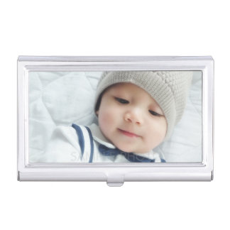 Custom Photo Business Card Holder