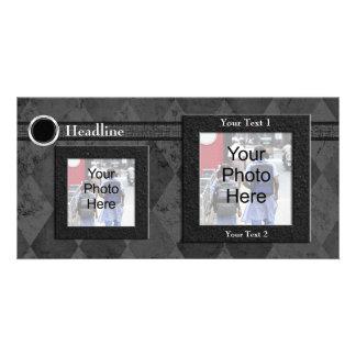 Custom Photo Card, Black Wedding or Formal Design Photo Greeting Card